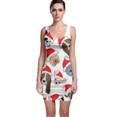 Christmas Puppies Bodycon Dress by allthingseveryone