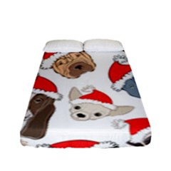 Christmas Puppies Fitted Sheet (full/ Double Size) by allthingseveryone