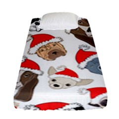 Christmas Puppies Fitted Sheet (single Size) by allthingseveryone
