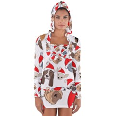 Christmas Puppies Long Sleeve Hooded T Shirt by allthingseveryone