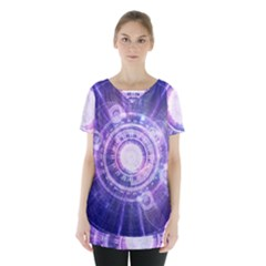 Blue Fractal Alchemy Hud For Bending Hyperspace Skirt Hem Sports Top by jayaprime