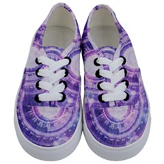 Blue Fractal Alchemy Hud For Bending Hyperspace Kids  Classic Low Top Sneakers