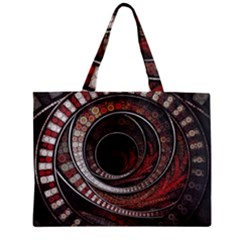 The Thousand And One Rings Of The Fractal Circus Zipper Mini Tote Bag by beautifulfractals