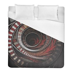 The Thousand And One Rings Of The Fractal Circus Duvet Cover (full/ Double Size) by jayaprime
