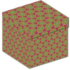 Red Green Flower Of Life Drawing Pattern Storage Stool 12