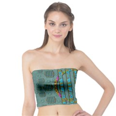 Freedom Is Every Where Just Love It Pop Art Tube Top