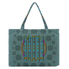 Freedom Is Every Where Just Love It Pop Art Zipper Medium Tote Bag by pepitasart