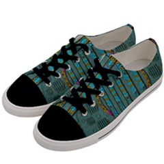 Freedom Is Every Where Just Love It Pop Art Men s Low Top Canvas Sneakers by pepitasart