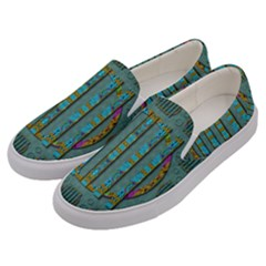 Freedom Is Every Where Just Love It Pop Art Men s Canvas Slip Ons by pepitasart