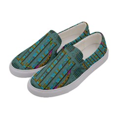 Freedom Is Every Where Just Love It Pop Art Women s Canvas Slip Ons by pepitasart