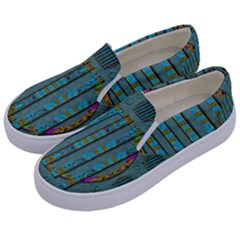 Freedom Is Every Where Just Love It Pop Art Kids  Canvas Slip Ons by pepitasart
