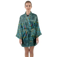 Freedom Is Every Where Just Love It Pop Art Long Sleeve Kimono Robe by pepitasart