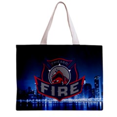 Chicago Fire With Skyline Mini Tote Bag by AllThingsEveryone