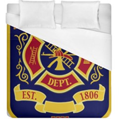 Fire Department Icon Duvet Cover (king Size) by allthingseveryone