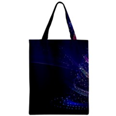 Christmas Tree Blue Stars Starry Night Lights Festive Elegant Classic Tote Bag by yoursparklingshop