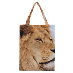 Big Male Lion Looking Right Classic Tote Bag by Ucco