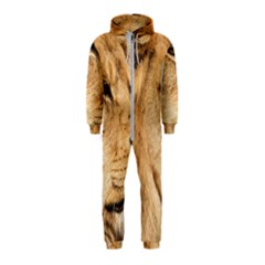 Big Male Lion Looking Right Hooded Jumpsuit (kids)