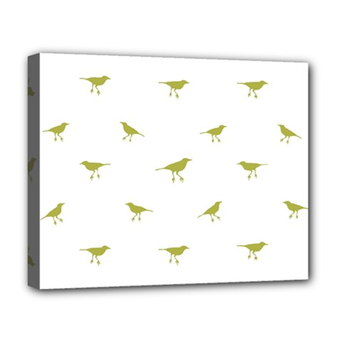 Birds Motif Pattern Deluxe Canvas 20  X 16   by dflcprints