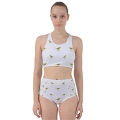 Birds Motif Pattern Racer Back Bikini Set by dflcprints