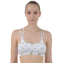 Birds Motif Pattern Line Them Up Sports Bra
