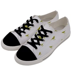 Birds Motif Pattern Men s Low Top Canvas Sneakers by dflcprints