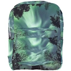 Northern Lights In The Forest Full Print Backpack by Ucco
