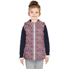 Flower Kaleidoscope 2 01 Kid s Puffer Vest