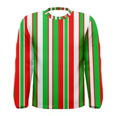 Christmas Holiday Stripes Red Men s Long Sleeve Tee