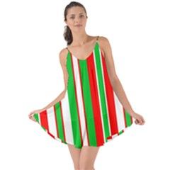 Christmas Holiday Stripes Red Love The Sun Cover Up