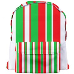 Christmas Holiday Stripes Red Giant Full Print Backpack