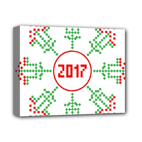 Snowflake Graphics Date Year Deluxe Canvas 14  X 11  by Celenk