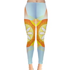 Star Pattern Background Leggings  by Celenk