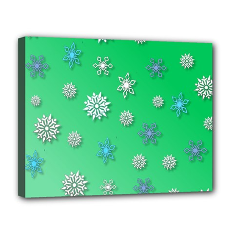 Snowflakes Winter Christmas Overlay Canvas 14  X 11  by Celenk