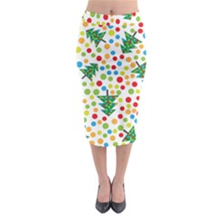 Pattern Circle Multi Color Midi Pencil Skirt by Celenk