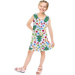 Pattern Circle Multi Color Kids  Tunic Dress by Celenk