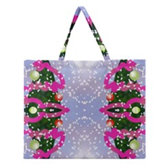 Seamless Tileable Pattern Design Zipper Large Tote Bag by Celenk