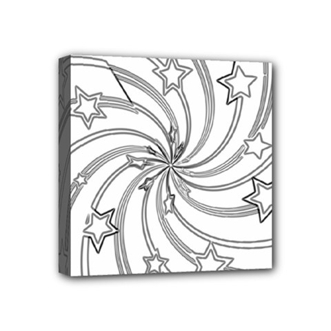 Star Christmas Pattern Texture Mini Canvas 4  X 4  by Celenk