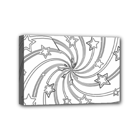 Star Christmas Pattern Texture Mini Canvas 6  X 4  by Celenk