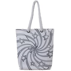 Star Christmas Pattern Texture Full Print Rope Handle Bag (small) by Celenk