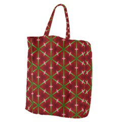 Textured Background Christmas Pattern Giant Grocery Zipper Tote by Celenk