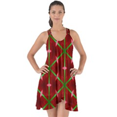 Textured Background Christmas Pattern Show Some Back Chiffon Dress