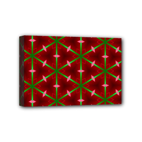 Textured Background Christmas Pattern Mini Canvas 6  X 4  by Celenk