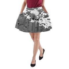 Background Celebration Christmas A Line Pocket Skirt by Celenk