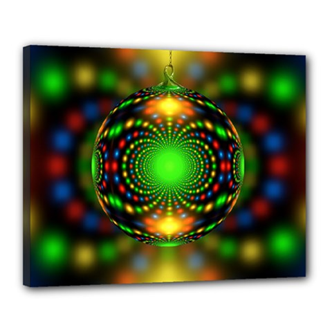 Christmas Ornament Fractal Canvas 20  X 16  by Celenk