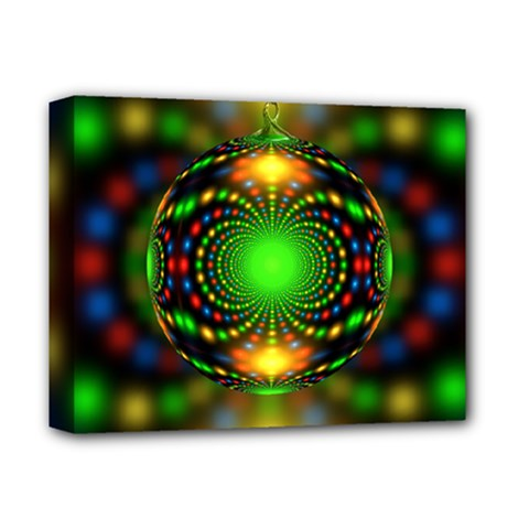 Christmas Ornament Fractal Deluxe Canvas 14  X 11  by Celenk