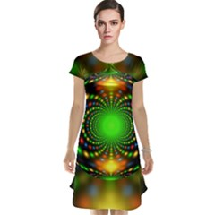 Christmas Ornament Fractal Cap Sleeve Nightdress