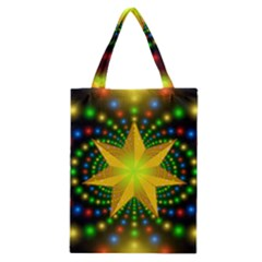 Christmas Star Fractal Symmetry Classic Tote Bag by Celenk