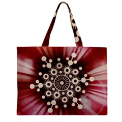 Background Star Red Abstract Zipper Mini Tote Bag