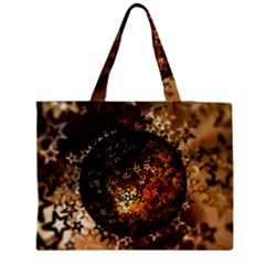 Christmas Bauble Ball About Star Zipper Medium Tote Bag by Celenk