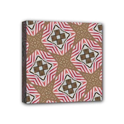 Pattern Texture Moroccan Print Mini Canvas 4  X 4  by Celenk